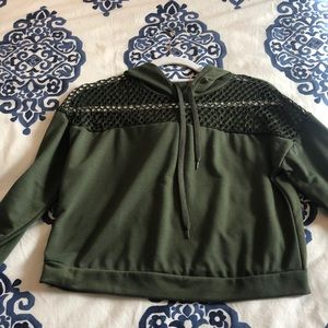 Other - Green sweatshirt with mesh in the top